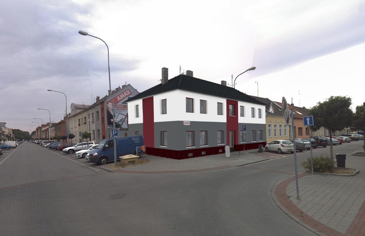 Vizualizace návrhu fasády a kompletní přestavby na rodinném domě - rekonstrukce
