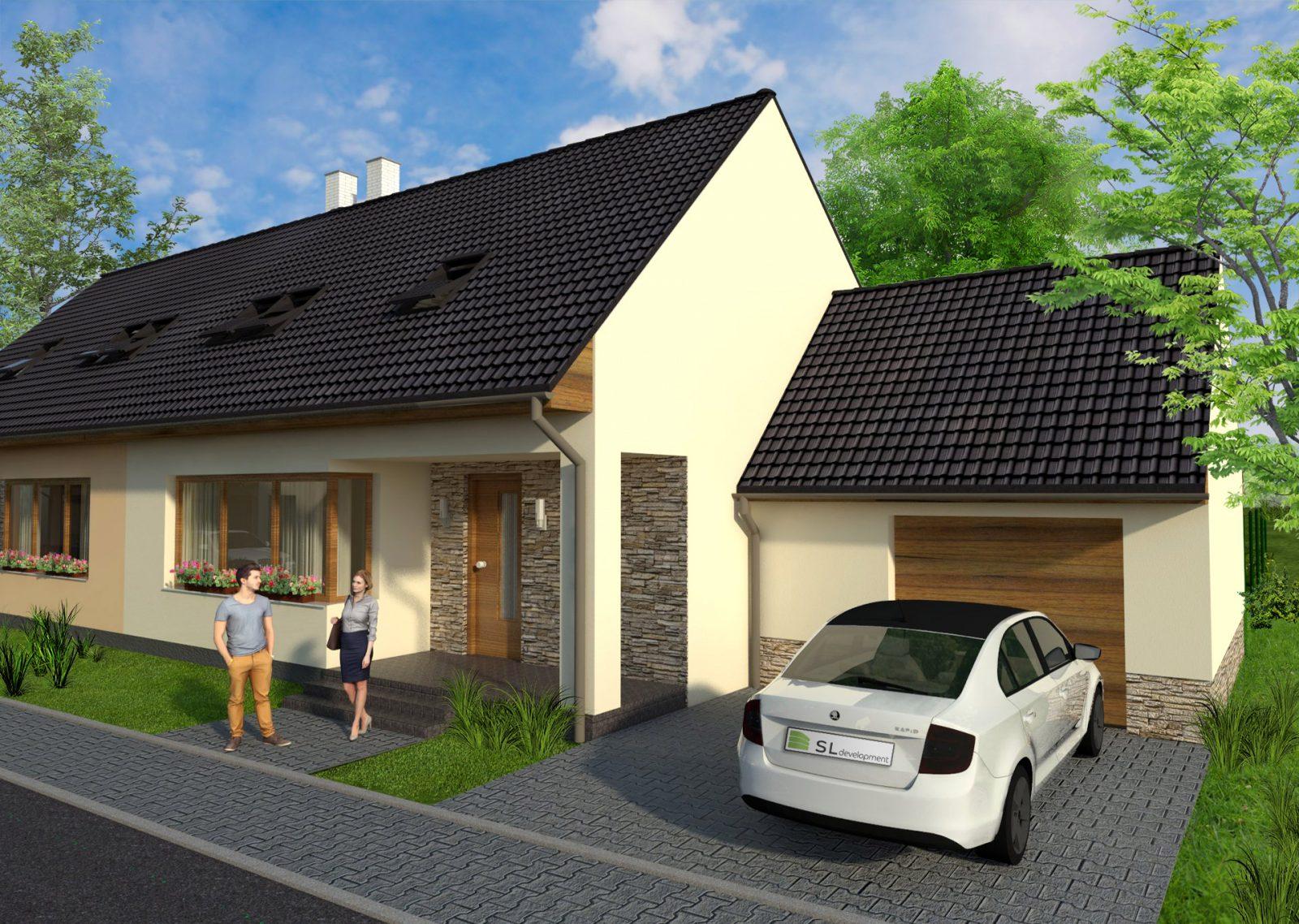 Vizualizace rodinných domů pro developerský projekt