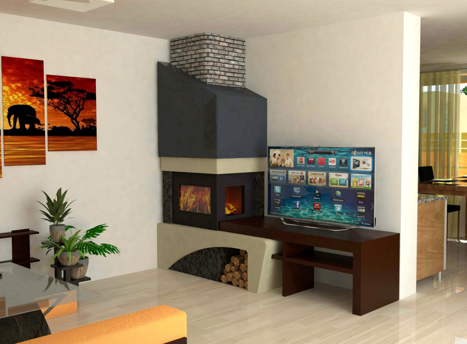 Vizualizace rodinných domů pro developerský projekt - interiér
