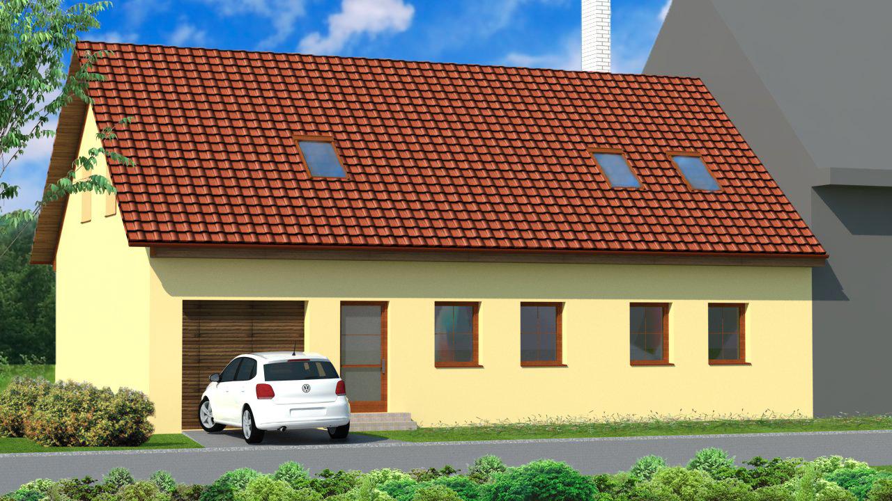Vizualizace a návrh fasády na rodinném domě