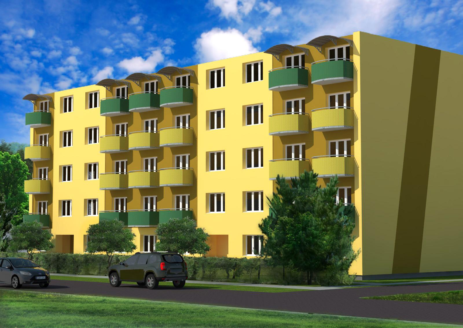Vizualizace a návrh fasády na bytovém domě