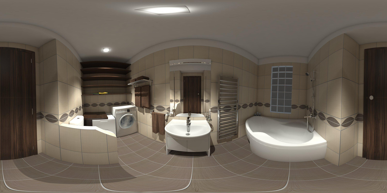 Panoramatická vizualizace - fotografie návrhu koupelny