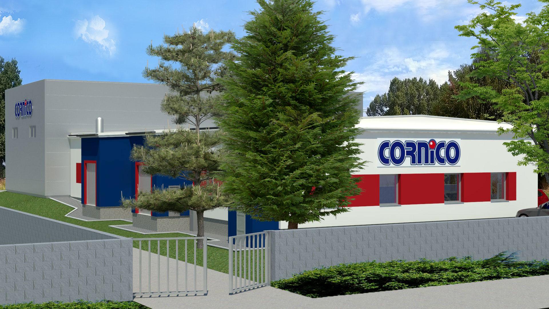 Návrh vizualizace rekonstrukce průmyslové a skladovací haly pro firmu Cornico