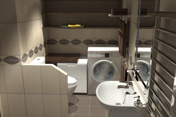 Vizualizace návrhu koupelny - fotorealistická