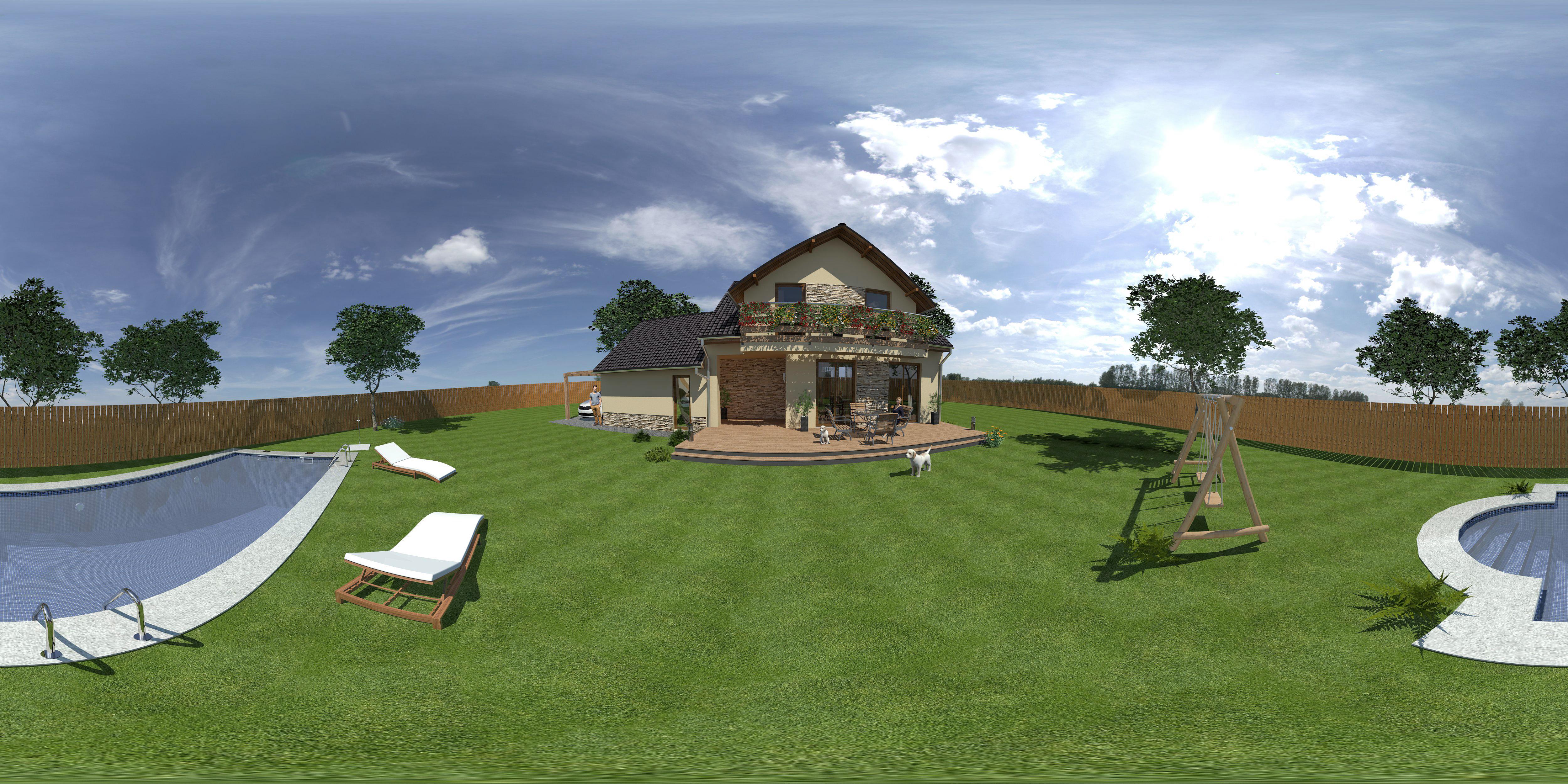 Interaktivní vizualizace rodinného domu - spustí se ve Facebooku